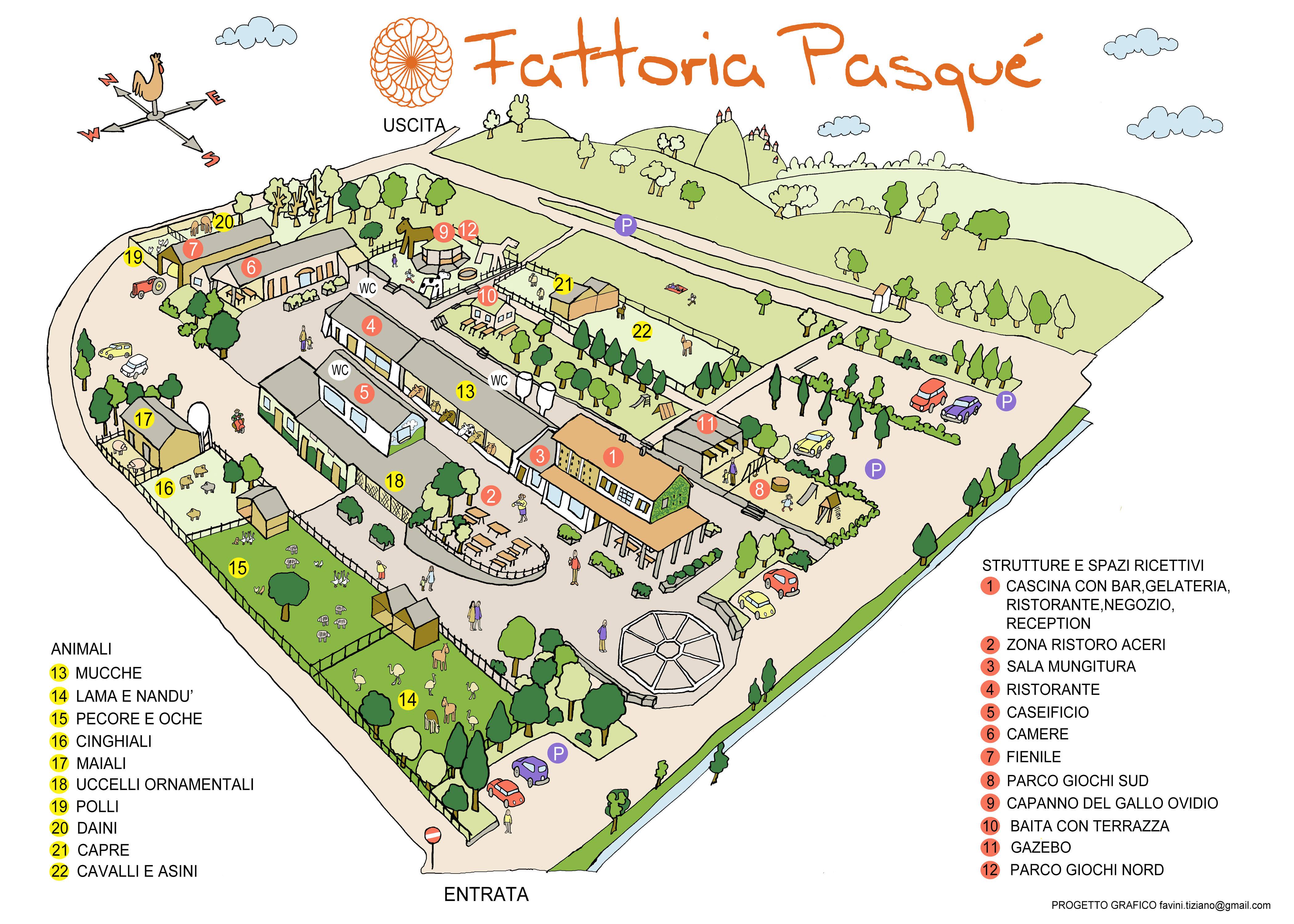 Mappa della fattoria fattoria pasqu for Piani di riproduzione della fattoria